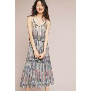 New Anthropologie Josie Tiered Maxi Dress $178